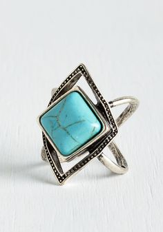All Over Asheville Ring. As you traipse from restaurants serving local fare to venues hosting your favorite acts, you embody the Asheville vibe with this silver ring. #blue #modcloth