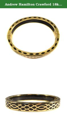 Andrew Hamilton Crawford 18k Gold Plated Infinity Bracelet in Black Colored Resin. It is the little details in everyday life that have lead to the charismatic collection of Andrew Hamilton Crawford; says New York designer Chad Crawford. Each piece is not only a piece of jewelry, but a timeless work of art that is to be worn by all generations. Known for its top-knotch quality and vivid array of color, Andrew Hamilton Crawford has gained attention for the creation of a unique and inventive...