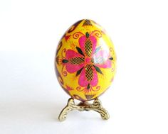 Check out this item in my Etsy shop https://www.etsy.com/ca/listing/59524751/yellow-pysanka-chicken-egg-hand-painted