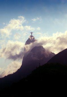 An unusual view of Cristo Redentor, Rio De Jenairo, Brazil