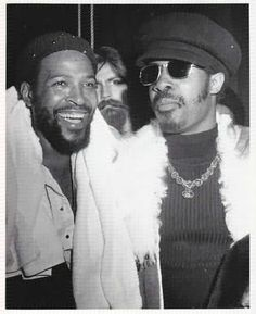 Marvin Gaye & Stevie Wonder in Black and White - Codeblack Icons
