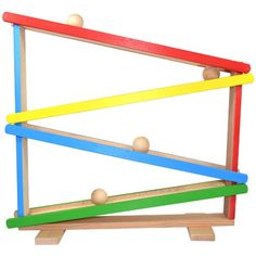 Toys Wooden Children's Wooden Toy Ball Track with Four Wooden Balls
