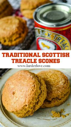 Traditional Scottish Treacle Scones are the perfect tea time treat any time of year. Serve warm spread with butter or add your favourite jam and cream too. #Scottish Baking #Scones #HomeBaking #ScottishRecipes #larderlove Scottish Recipes, British Recipes, Treacle Scones, Baking Scones, A Food, Good Food, Cheddar Biscuits, Home Baking, Fun Cup