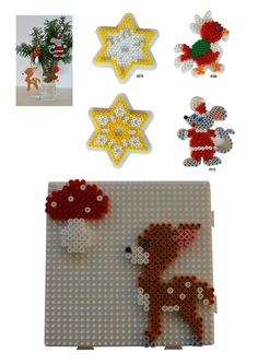 Inspiration for playing with Hama Beads Hama Beads Design, Hama Beads Patterns, Beading Patterns, Christmas 2015, Christmas Crafts, Hama Beads Christmas, Motifs Perler, Peler Beads, Iron Beads