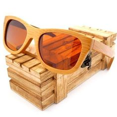 cb628eb01614 Bobo Bird Brand Vintage Bamboo Wooden Sunglasses Handmade Polarized Mirror  Coating Lenses Eyewear in Wood Box