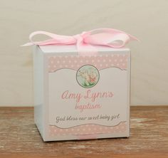 8  Little Lamb Baptism Favor Boxes / Cupcake Boxes  by thefavorbox