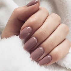 A nice pinkish brown nude of gel nails