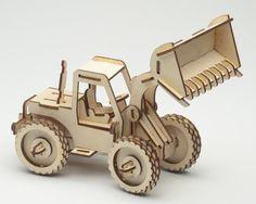 Laser Cut Puzzel Model - Bucket Loader