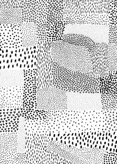 pattern | black _ white dots + dashes by Georgiana Paraschiv
