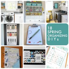 18 Spring Organizing DIYs! So many great ideas to get you organized! -- Tatertots and Jello