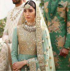 Fullonwedding - Bridal Wear - 10 Best Sabyasachi Bridal Outfits - Mint Green Anarkali
