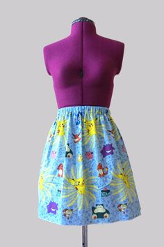 Pokemon skirt by Toxiclove on Etsy