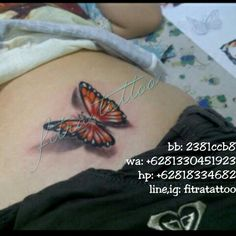 3d Butterfly colour tattoo  done by @fitratattoo (line/ig)