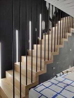 Stair Railing Design, Home Stairs Design, Interior Stairs, House Design, Escalier Design, House Stairs, Hallway Decorating, Stairways, New Homes