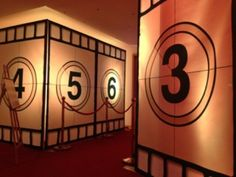hollywood backdrops | Film Reel Entrance Backdrop Kit
