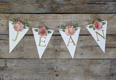 Personalized paper flower garland with blush peonies Pink and | Etsy Blush Peonies, Blush Pink, Fake Flowers, Pink Flowers, Paper Flower Garlands, Floral Banners, Baby Name Signs, Gold Baby Showers, Flower Wall