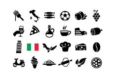 24 ITALY ICONS --- What's Included? - 1 EPS - 1 JPG x 4000 px) Features - easy to change colour - fully resizable vector graphics Vector Graphics, Vector Icons, Icon Tattoo, Travel Icon, Simple Doodles, Business Icon, Textures Patterns, Doodle Art, Vintage Posters
