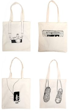 Brilliant reusable totes. Ooh I gotta' get me one of these! :)