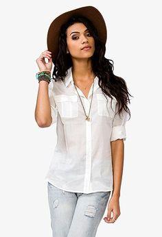 plain shirt uniform for women | !!! Plain white button up. Like a men's dress shirt shaped for women ...