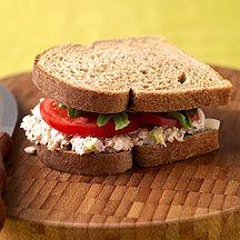 Weight Watchers Tuna Salad on Whole Wheat ....7 points plus value