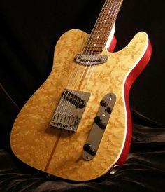 Custom Fender Telecaster with Birdseye Maple top Guitar Pics, Music Guitar, Guitar Amp, Cool Guitar, Telecaster Guitar, Fender Guitars, Acoustic Guitars, All Music Instruments, Signature Guitar