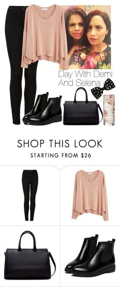"""""""Day with Demi and Selena"""" by lovatic92 ❤ liked on Polyvore featuring Topshop, MANGO, Zara, WithChic and Miss Selfridge"""