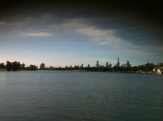 Melbourne view from Albert Park Lake