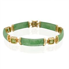 Bling Jewelry 925 Silver Chinese Good Luck Symbol Peridot Green Jade Bracelet ** Continue to the product at the image link.(This is an Amazon affiliate link)