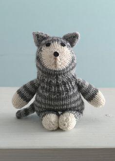 FREE Purrfect Kitty Sock Critterknitting pattern in Lion Brand Wool-Ease.  Find the knitting pattern at LoveKnitting.