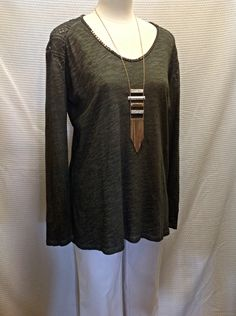 Channel some natural earthy vibes in this gorgeous forest green top! - Tribal. Jeans  - Forest green long sleeve with lace shoulder insets and beading at neckline  -  #Casanovasdownfall #BoutiqueFashion #Earthy #Natural #FashionInspo #NatureGypsy #Ootd #style