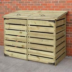 Shed Plans - A great place to store your garbage and recycling bins without being an eye sore Now You Can Build ANY Shed In A Weekend Even If You've Zero Woodworking Experience!