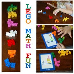 So many ways to get a big bang from Lego's. Check out some of these simple Lego Math Activities.and remember, girls love Lego's too! Lego Math, Math Classroom, Kindergarten Math, Teaching Math, Math For Kids, Fun Math, Math Games, Preschool Activities, Easy Math