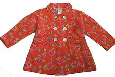 Room Seven Beautiful Girls Red Floral Coat