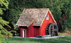 Dieser Bauplan Wassermühle kommt ganz ohne Bachlauf aus: Die Anleitung zeigt Schritt für Schritt, wie Sie die Wassermühle mit dem Bauplan nachbauen