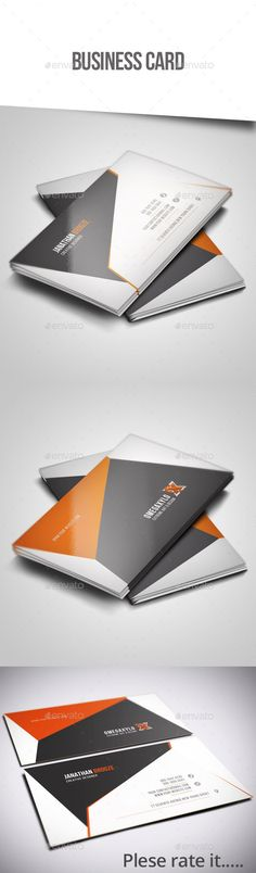 Corporate Business Card Template #design Download: http://graphicriver.net/item/corporate-business-card/12388391?ref=ksioks