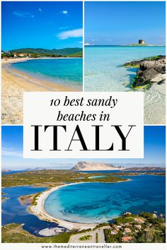 10 Best Sandy Beaches in Italy. Looking for the Italy's softest finest sandy beaches? It has a surprising number of dazzling sands and wide curved bays to discover. Here are 10 of the best sandy beaches in Italy. #italy #beach #summer #vacation #europe #travel #mediterranean #tmtb Italy Travel Tips, Top Travel Destinations, Group Travel, Family Travel, Things To Do In Italy, Road Trip Europe, Italy Italy, Southern Europe, Beaches In The World