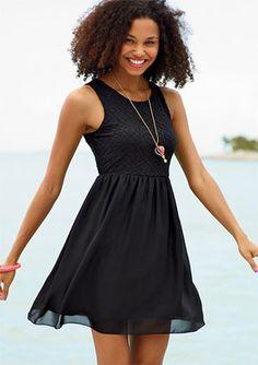 dELiAs > Open Back Lace Dress > dresses > the little black dress