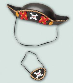 Pirate Hat & Eye Patch