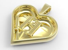 The perfect gift for your secret lover :) A 3D printed pendant that you can wear with the letter on the front side or in the back side. In the later case it will resemble a normal heart pendant...