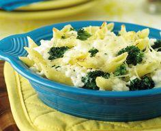 Broccoli & Cottage Cheese, Parmesan Pasta