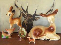Adorable kitschy deer.