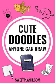 Cute doodles for Your bullet journal anyone can draw! Cute doodles for Your bullet journal anyone can draw! Planner Doodles, Bujo Doodles, Doodle Drawings, Easy Drawings, Pencil Drawings, Planner Stickers, Journal Stickers, Doodle Learn, Doodle Lettering