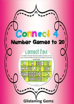 Math Games - This Connect 4 packet is a fun way for students to revise concepts in numbers up to 20. The packet includes: 6 games, set of numbers from zero to twenty, teacher instructions & preparation, variations to the game and a checklist to monitor student's progress in number. The games can be printed in colour or black and white and laminated for regular use in your classroom.   These games are a fun and easy to understand and are targeted for students from Kinder (Prep) to year 2 dependin
