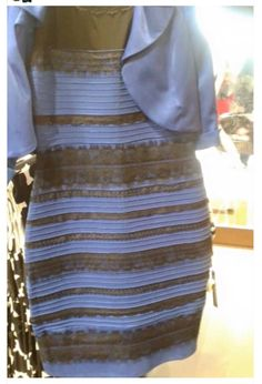 Is this drees blue and Black or gold and White. I Think is blue and Black