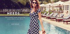 Hot-weather-ready dresses. SHOP DRESSES