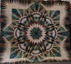 Prairie Star, Quiltworx.com, Made by Deborah Kelton, Taught by CI Patsy Carpenter, Quilted by Dyna Hall Creations