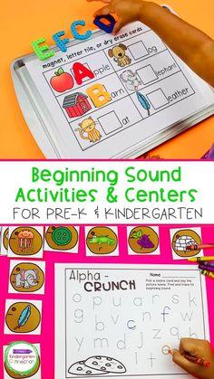 Beginning Sound Activities and Centers for Pre-K and Kindergarten