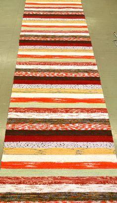 Pyykkiranta Rag Rug Diy, Rag Rugs, Recycled Fabric, Woven Rug, Scandinavian Style, Pattern Design, Recycling, Weaving, Rug Weaves
