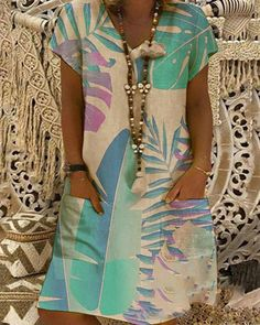 V Neck Midi Dress, The Dress, Cheap Dresses, Dresses For Sale, Mini Dresses, Floral Dresses, Floral Tunic, Casual Summer Dresses, Online Dress Shopping
