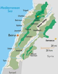 Lebanon-point of references